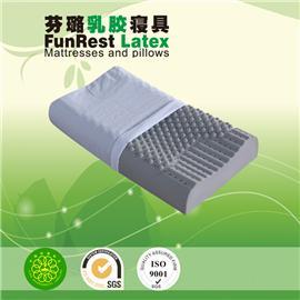 竹碳健椎按摩枕  泰国乳胶枕头 进口纯天然正品 护颈枕保健枕 颈椎枕头枕芯