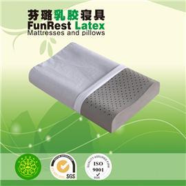 竹碳安眠曲线枕  泰国乳胶枕头 进口纯天然正品 护颈枕保健枕 颈椎枕头枕芯