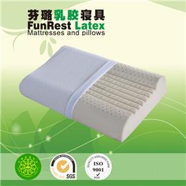 富贵曲线枕  泰国乳胶枕头 进口纯天然正品 护颈枕保健枕 颈椎枕头枕芯