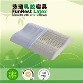 工学曲线护颈枕  泰国乳胶枕头 进口纯天然正品 护颈枕保健枕 颈椎枕头枕芯