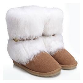 背带环扣短筒雪地靴