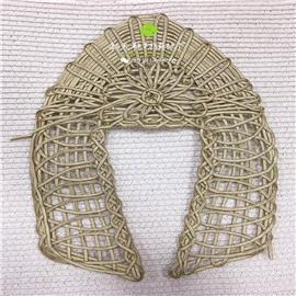 手工编织鞋面 麻绳织带 麻中底