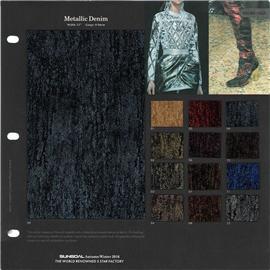 盛国 2016时尚新品 SG16-151 Metallic Denim皮革 无毒环保 品质保证