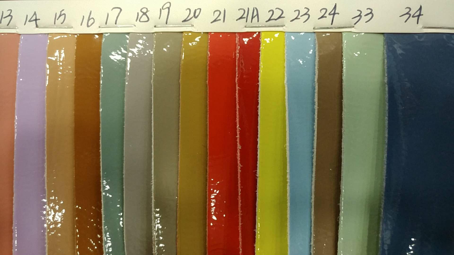 广州环冠超纤鞋包用1.0mm厚度漆皮二代,厚度1.0mm,幅宽1370mm