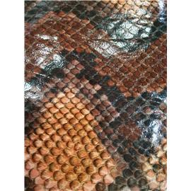 兴企国际鞋材0.5mm厚度蛇纹图案鞋包手机壳用绒布