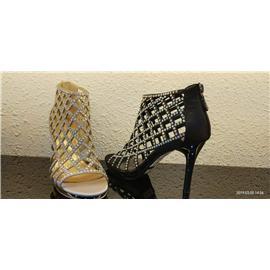 广州市昕蕾鞋业多型号镶钻沙丁布罗马鞋
