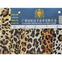 广州恒达丰皮革2020春夏女鞋爆款豹纹布料图片
