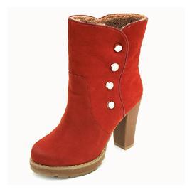 冬季高跟粗跟按扣馬丁靴圖片