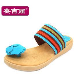 英吉丽夏新款女鞋夹趾平跟凉鞋凉拖沙滩鞋休闲鞋 2338424