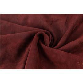 余亿皮革 油蜡牛反毛皮(红色)  厂家供应 品质保证