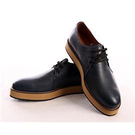 时尚休闲蓝色皮鞋图片