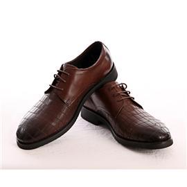 美式商务棕色皮鞋