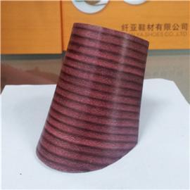 纤亚鞋材 有染色效果的规则层皮跟 01 层皮