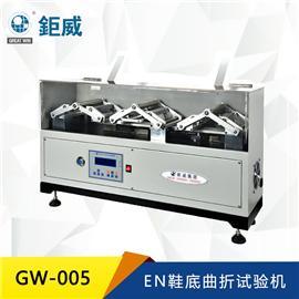 GW-005  EN鞋底曲折试验机 大底耐弯曲检测仪器  橡胶 PU PVC大底耐折试验机