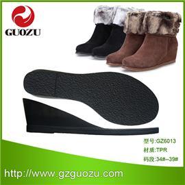 【鞋底厂家直供】新品鞋底批发 多款式女式 舒适美观TPR靴子 GZ6013