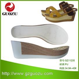 新品鞋底批发 女式 舒适美观 PU凉鞋鞋底 2014年热销 GZ11235
