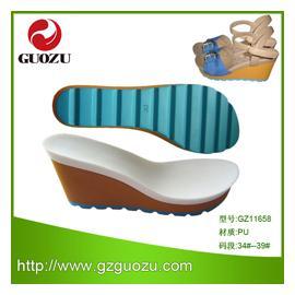 2014热销 PU鞋底GZ11658,耐磨防滑鞋材,可批发、可零售、可来样来图设计