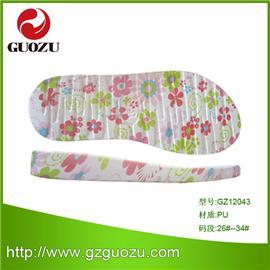 專業大底廠批發童裝PU涼鞋底,花式多樣,顏色多種,歡迎選購GZ12043