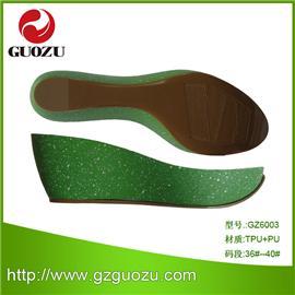 TPU&PU組合涼鞋底GZ6003,耐磨防滑鞋材,可批發、可零售、可來樣來圖設計