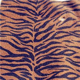 虎纹豹纹印花猪反绒皮绒面革