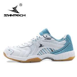 Suntech尚至 正品羽毛球鞋真皮防滑耐磨轻盈透气羽毛球鞋男鞋女鞋