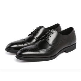 春季新款商务正装皮鞋男鞋 英伦雕花尖头皮鞋潮流布洛克男士皮鞋