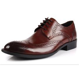 男士皮鞋英伦商务正装休闲皮鞋男青年真皮圆头鞋套脚男皮鞋低帮鞋