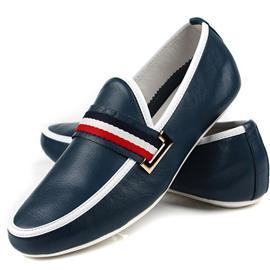 韩版男鞋真皮透气 新款豆豆鞋男套脚皮鞋 软牛皮舒适潮流休闲皮鞋