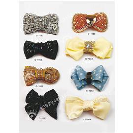 C系列韓版新款蝴蝶花多色鞋花配件手工品質蝴蝶結花朵頭花服飾包包配件