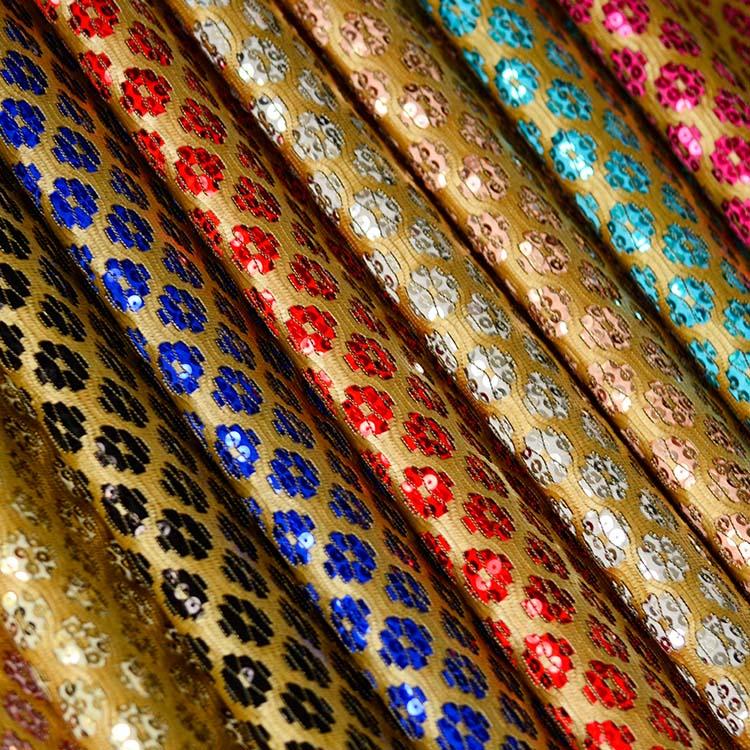 XQ6087时尚蕾丝网布 高质量蕾丝 |烫金压胶布 |莱卡布