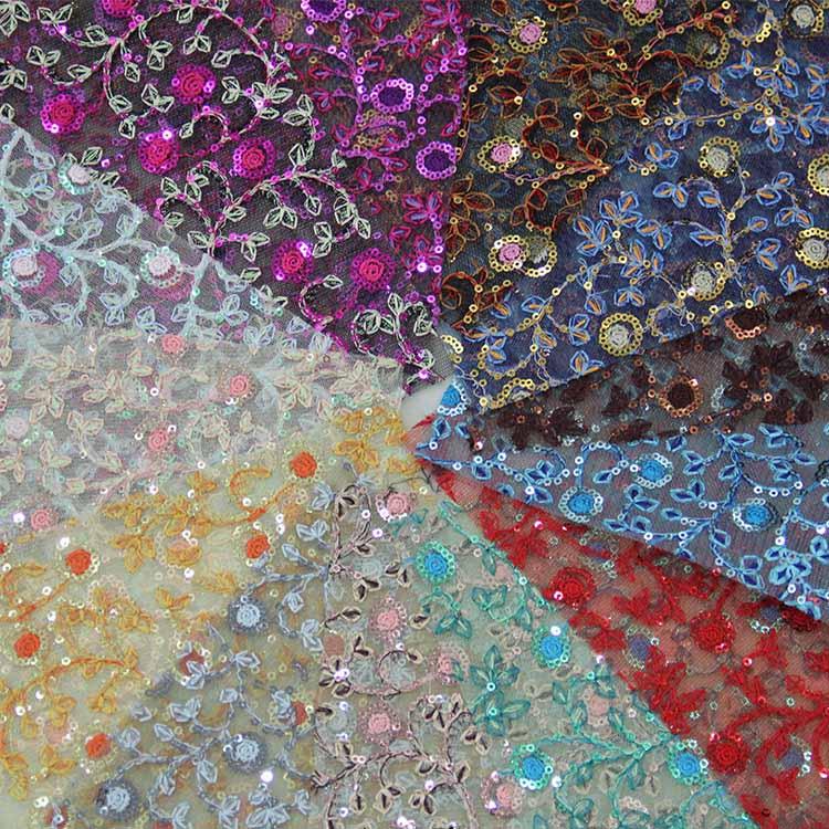 XQ2014-92时尚蕾丝网布 |烫金布 |仿皮绒五枚缎