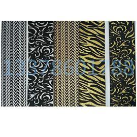 金、银压纹织带