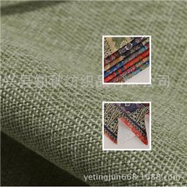 厂家现货供应民族风印花仿麻布亚麻 家居家纺用布双色麻布批发