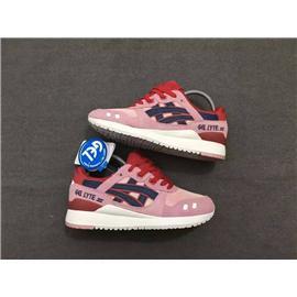 Asics亚瑟士粉紫玫瑰女鞋系带女鞋