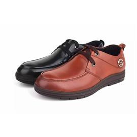 Ecco爱步39215头层ω 牛皮男鞋商务正装男鞋圆头男鞋面料进⌒ 口系带男鞋
