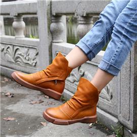 复古擦色牛皮 新款鞋底采用硬橡胶材质 防滑耐磨