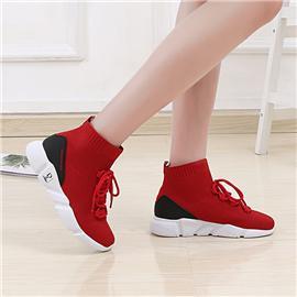 2018新款上市时尚休闲运动鞋 红色百搭女鞋