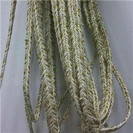 配色金葱线麻条编织