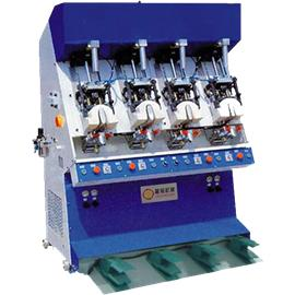 FOUR STATION COLD BACK PART MOULDING  MACHINE|back heel shaping machine|shoe factory shaping
