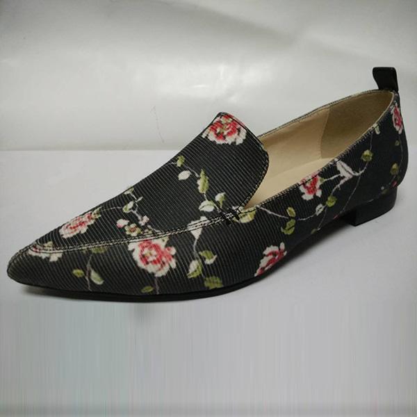 Casual female shoes BS-XX014 BosHeng Shose Sharp Flat bottom Women's shoes