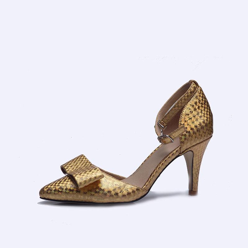伯昇炫彩女鞋印花女鞋高跟凉鞋多色女鞋BS117