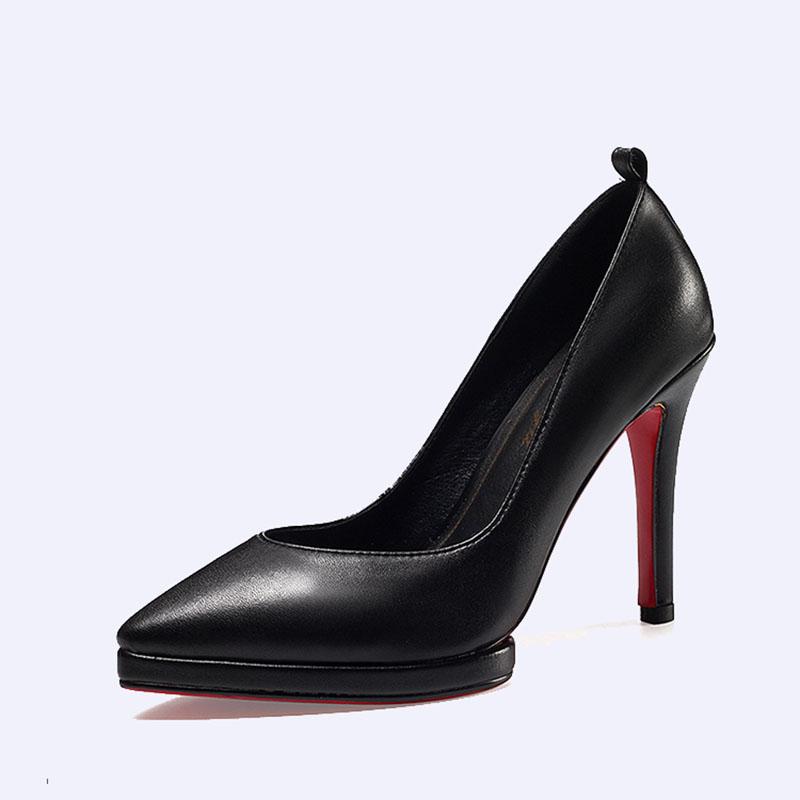 防水臺女鞋高跟女單鞋真皮女鞋BS032