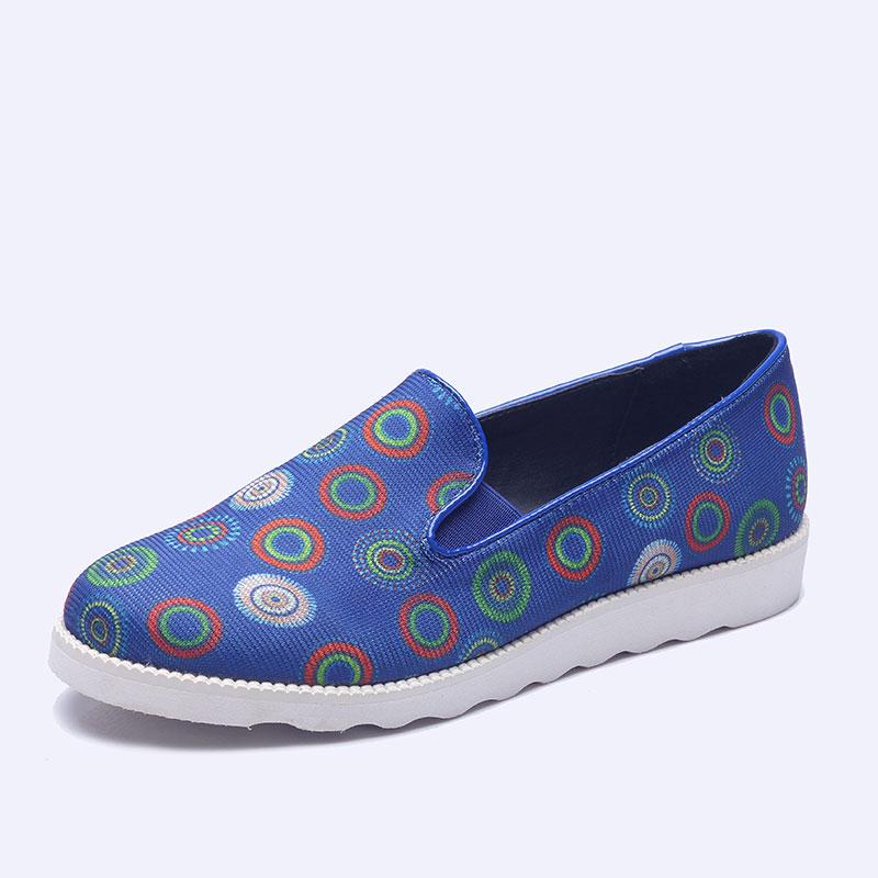 伯昇彩色编织女鞋印花女鞋平底女单鞋BS002
