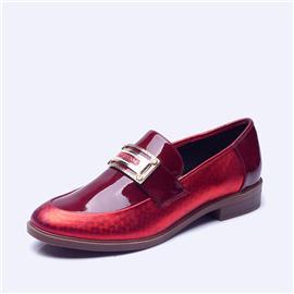 伯昇不皱皮炫彩圆头平底单鞋BS012