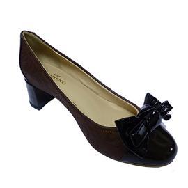 016伯昇鞋业 BS-FD650 新款蝴蝶结真皮女鞋,伯昇浮雕式女鞋