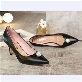 伯昇中跟女鞋高跟女鞋尖頭女鞋真皮女單鞋BS059