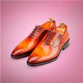 伯昇正装男鞋商务男鞋真皮男鞋黄金LOGO男鞋BSL016