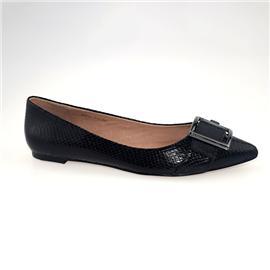 【伯昇】时尚尖头 平?#35013;?#25645; 软底防滑女鞋