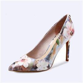 伯昇炫彩女鞋印花女鞋高跟女單鞋BS037