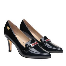 伯昇凤牌|BSF-19888|黄金logo|高跟女单鞋尖头女鞋|黑色女鞋
